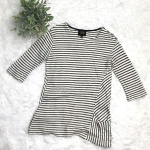 W5 Striped Knit Top Size Small